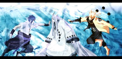 naruto shippuuden fondo de pantalla entitled *Kaguya V/S naruto / Sasuke*
