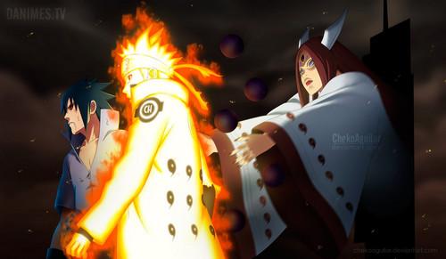Naruto Shippuuden: Sasuke lovers wallpaper called *Kaguya V/S Naruto / Sasuke*