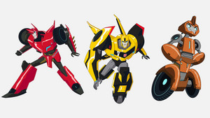 2015 Sideswipe, Bumblebee, and Fixit