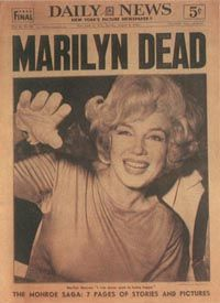 A Newspaper articulo To The Passing Of Marilyn Monroe