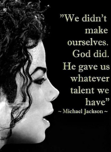 Michael Jackson wallpaper probably containing anime entitled A Personal Quote From Michael