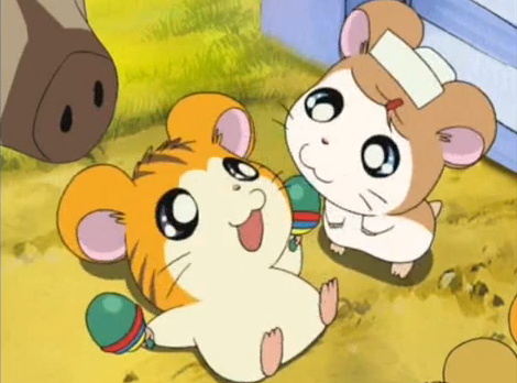 Hamtaro Hintergrund possibly containing Anime called A bunch of cuties