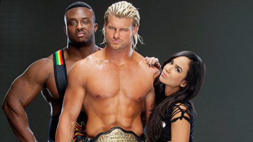 AJ Lee Hintergrund probably with a stück, hunk and skin titled AJ Lee,Dolph Ziggler,Big E