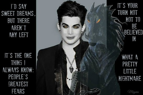 Rise of the Guardians wallpaper containing a sign titled Adam Lambert as Pitch Black