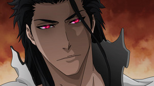 Aizen with the Sharingon