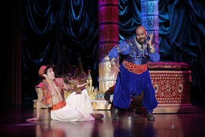 Aladdin and Genie on Broadeay