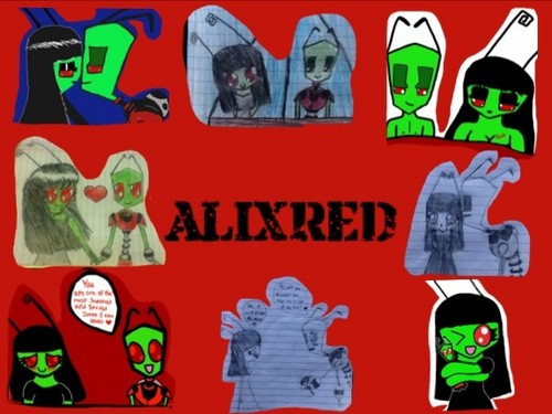 Invader Zim wallpaper containing anime entitled AlixRed Banner