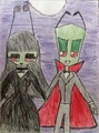AlixRed Vampires - invader-zim fan art