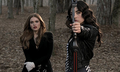 Allison with her crossbow and Lydia