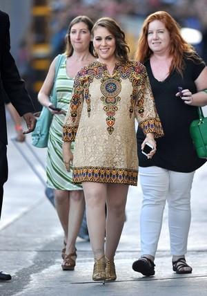 Alyssa arrives at 'Jimmy Kimmel Live!' - June 3rd