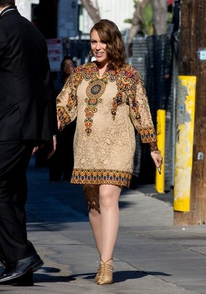 Alyssa arrives at 'Jimmy Kimmel Live!' - June 3rd