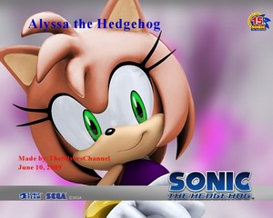 Alyssa the Hedgehog from Sonic
