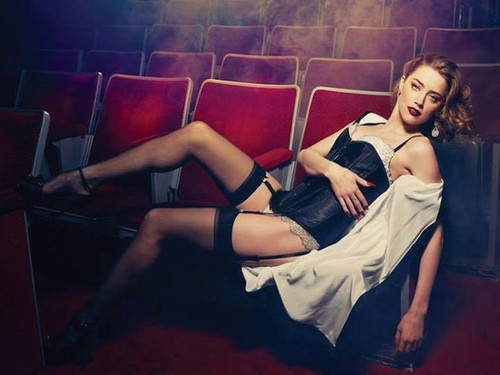 Amber Heard Hintergrund probably containing bare legs, hosiery, and a hip boot entitled Amber
