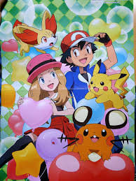 Amourshipping along with Fennekin, Pikachu, and Dedenne