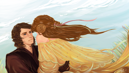 Anakin and Padme wallpaper titled Anakin and Padme