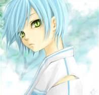ऐनीमे boy with light blue hair