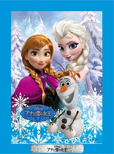 Frozen wallpaper possibly containing a portrait entitled Anna, Elsa and Olaf