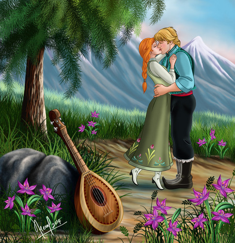 Princess Anna wallpaper entitled Anna and Kristoff
