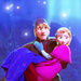 Anna carried by Kristoff icon