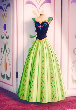 Anna's coronation gown