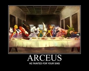 Arceus, the god of Pokemon