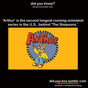 Arthur - sekunde longest running cartoon
