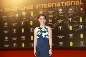 Attending the closing and award ceremony of 17th Shanghai International Film Festival at Shanghai Gr