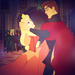 Aurora and Phillip [Aurora Recolored Dress Icon Set] - sleeping-beauty icon