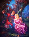 Aurora and Phillip painting.
