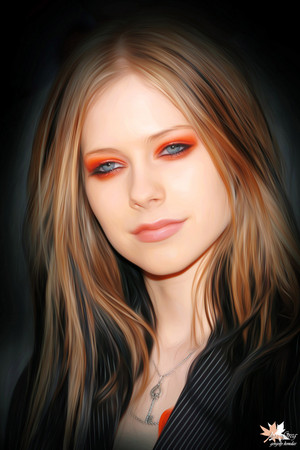 Avril Lavigne painting