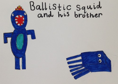 Stampy long nose wallpaper called Ballistic Squid and his brother