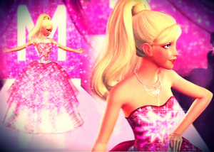 Barbie's Long Sparkly gaun