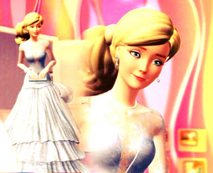 Barbie's Long White Gown
