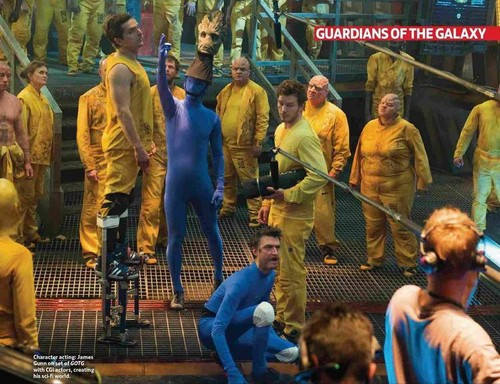 Guardians of the Galaxy 바탕화면 probably with a green 베레모, 베 레모 titled Behind The Scenes
