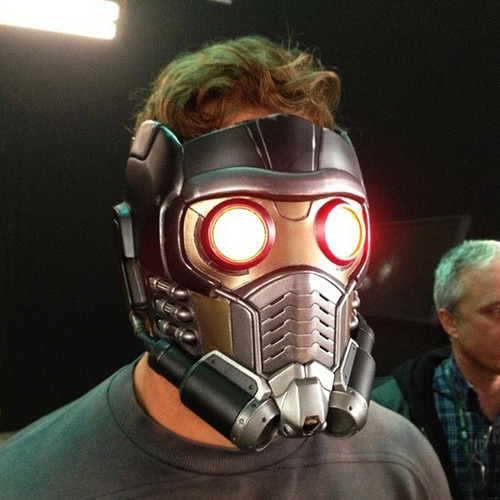 Guardians of the Galaxy 바탕화면 with a gasmask entitled Behind The Scenes