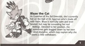 Blaze's Biography (Sonic Rush)