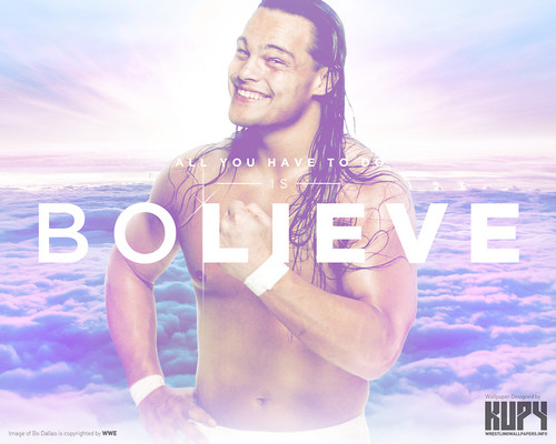 WWE wallpaper containing a portrait and skin titled Bo Dallas - BOlieve