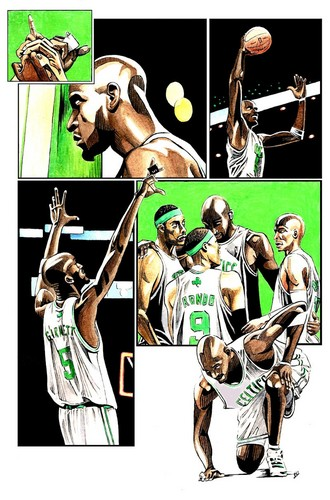 Boston Celtics Hintergrund possibly containing a basketball player and Anime entitled Boston Celtics fanart