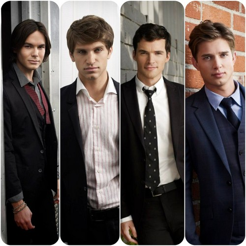 maldosas série de televisão wallpaper containing a business suit and a suit called Boys of Pretty little liars
