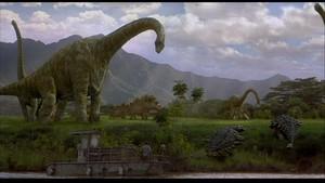 Brachiosaurus and Ankylosaurus Jurassic Park