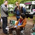 Bradley/Colin - on set