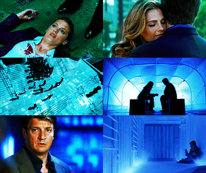 Caskett in blue