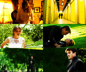 Caskett in yellow and green