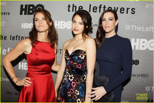 The Leftovers [HBO] 壁紙 containing a ディナー dress, a gown, and a bridesmaid called Cast @ 'Leftovers' Premiere in NYC