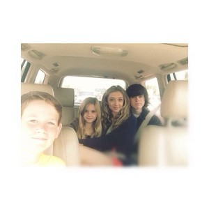 Chandler with Hana, Kyla and Garyson yesterday