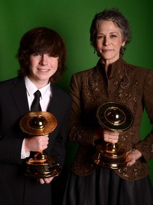 Chandler Riggs and Melissa McBride