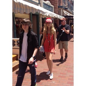 Chandler and Hana at Disneyland