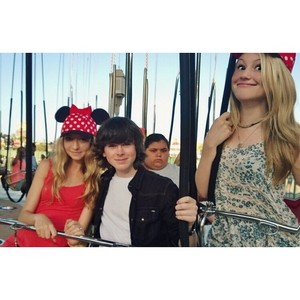 Chandler with Hana and Brooke at Disneyland