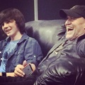 Chandler with Michael Rooker at Denver Comic Con yesterday