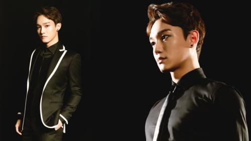 এক্সো দেওয়ালপত্র containing a business suit, a suit, and a সঙ্গীতানুষ্ঠান called Chen The হারিয়ে গেছে Planet